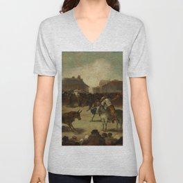 """Francisco Goya """"Corrida de toros en un pueblo"""" Unisex V-Neck"""