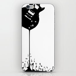 Bubbling Musical Notes iPhone Skin