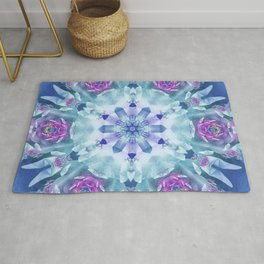 Royal Blue and Purple Mandala Rug