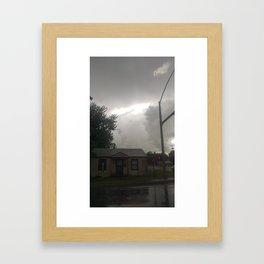 House in the Storm Framed Art Print