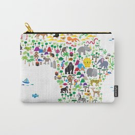 Animal Map of Africa for children and kids Carry-All Pouch