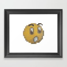 Emoticon Ohh Framed Art Print