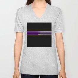 Team Colors 5...Purple,orange Unisex V-Neck