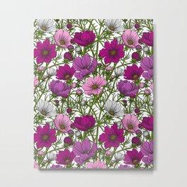 Cosmos flowers mix Metal Print