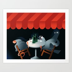 Feed the birds Art Print