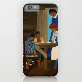 African American Masterpiece 'Giving Thanks' by Horace Pippin iPhone Case