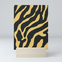 Tiger Skin Pattern Sandy Brown Mini Art Print