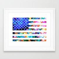 usa Framed Art Prints featuring USA by Bekim ART
