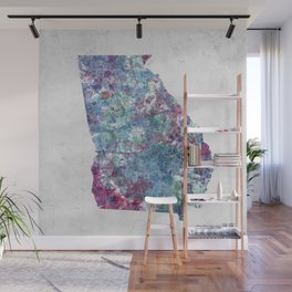 Georgia map Wall Mural