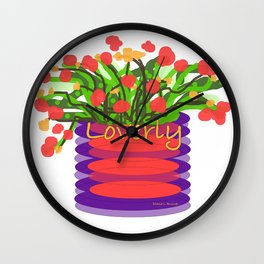 LOVERLY FLORAL Wall Clock