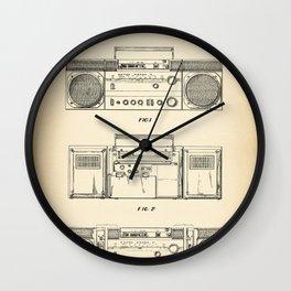 Boombox intage Wall Clock