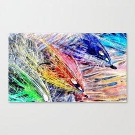 Water Color Flies Canvas Print