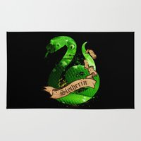 slytherin Area & Throw Rugs featuring Slytherin by Markusian