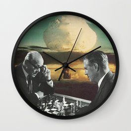 Political Pawns Wall Clock