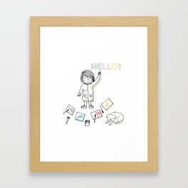 Little Artist Framed Art Print