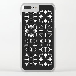 Arrows black and white Clear iPhone Case
