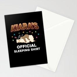 Kiara Name Gift Sleeping Shirt Sleep Napping Stationery Cards