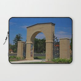Lourdes University- Lourdes Entrance in the Spring II Laptop Sleeve
