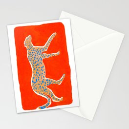 Leopard - Orange Stationery Cards