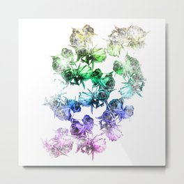 Smokey Flowers Metal Print