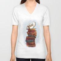 hedwig V-neck T-shirts featuring Hedwig by Sam Skyler