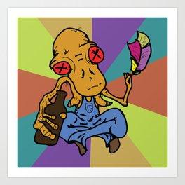 Bobo the Dunken Philosopher Art Print