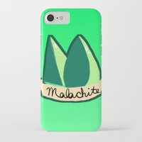 malachite iPhone & iPod Cases featuring Malachite by El Jones