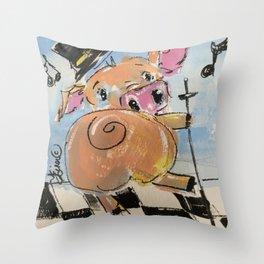 Pig Jig Throw Pillow