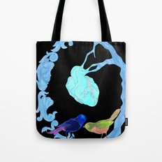 Two birds and a heart Tote Bag