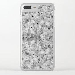 energy field b&w Clear iPhone Case