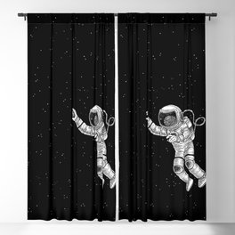 Astronaut in the outer space Blackout Curtain