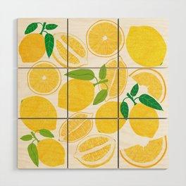 Lemon Harvest Wood Wall Art