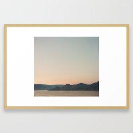Okanagan at dusk. Framed Art Print