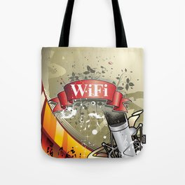 Wifi Tech Tote Bag