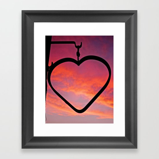 Love Sunset Framed Art Print
