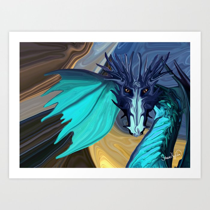 Sapphire Blaze Across the Canyon Art Print