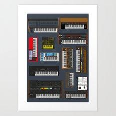 Synths  Art Print