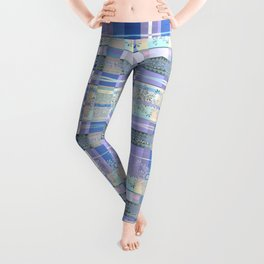 Abstract pattern with lace decorative bands. Leggings