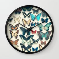 wings Wall Clocks featuring Wings by Cassia Beck