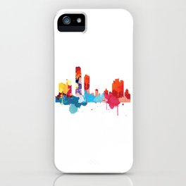 Panama Cityscape Watercolor iPhone Case