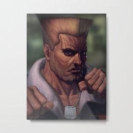 Street Fighter-Guile Metal Print