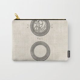 Interlocking Poker Chip Vintage Patent Hand Drawing Carry-All Pouch