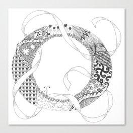 """Zenletter """"O"""" Canvas Print"""