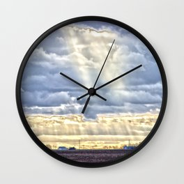 Countryside Rays of Light Wall Clock