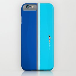 The Lone Swimmer | Aerial iPhone Case