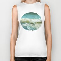wave Biker Tanks featuring Wave by Bella Blue Photography