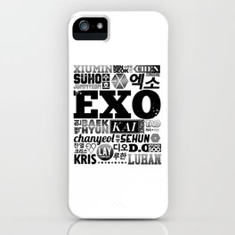 EXO Font Collage iPhone Case