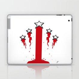 Blood stripes and stars Laptop & iPad Skin