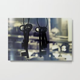 Hanging Keys-Dark Metal Print