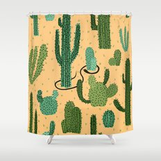 The Snake, The Cactus and The Desert Shower Curtain